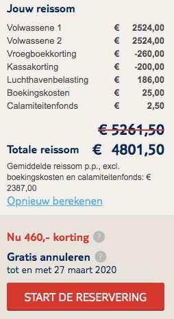 9 dagen Malediven €2387