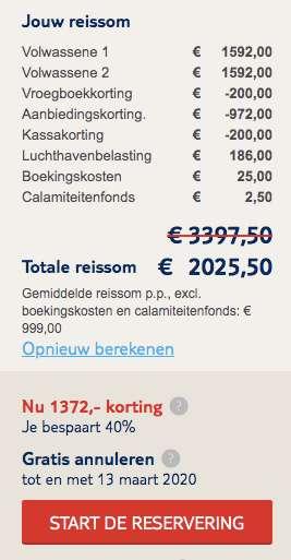 9 dagen Malediven €999