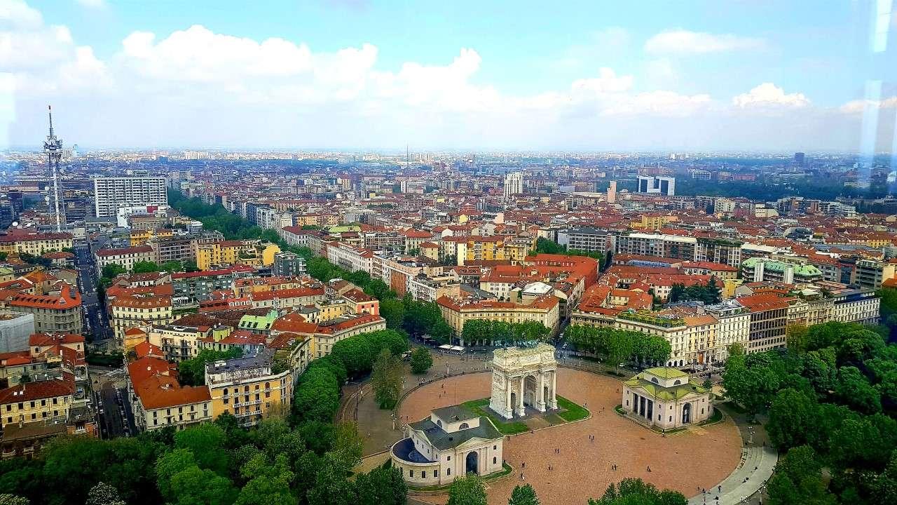Italië, Milaan, uitzicht Torre Branca