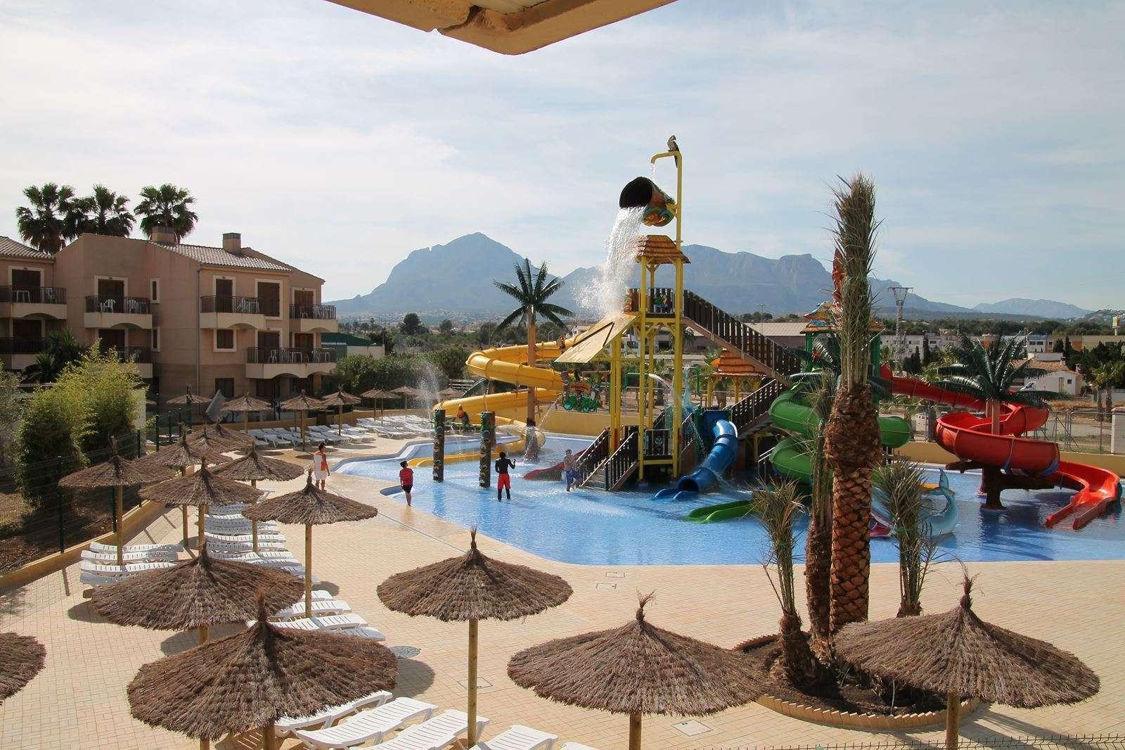 albir garden resort aquapark uitzicht