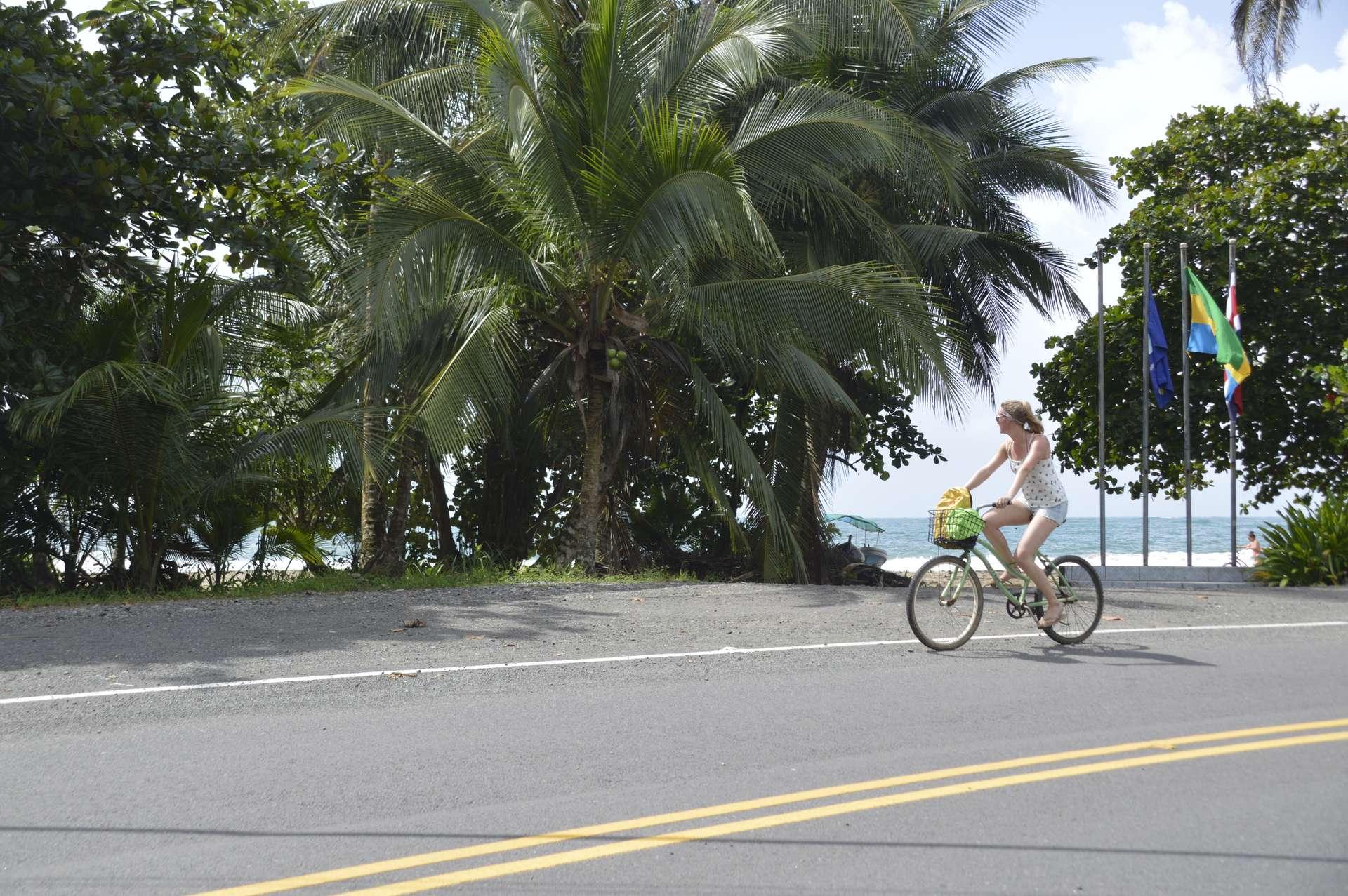 Costa Rica, Puerto Viejo, fietsen