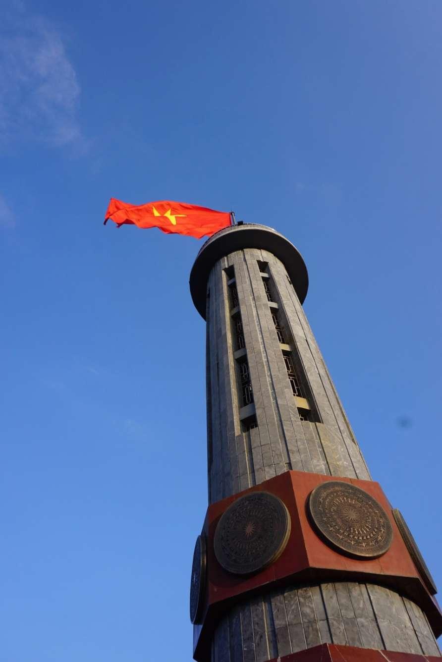 Noord Vietnam, Ha Giang Loop, vlaggenmast