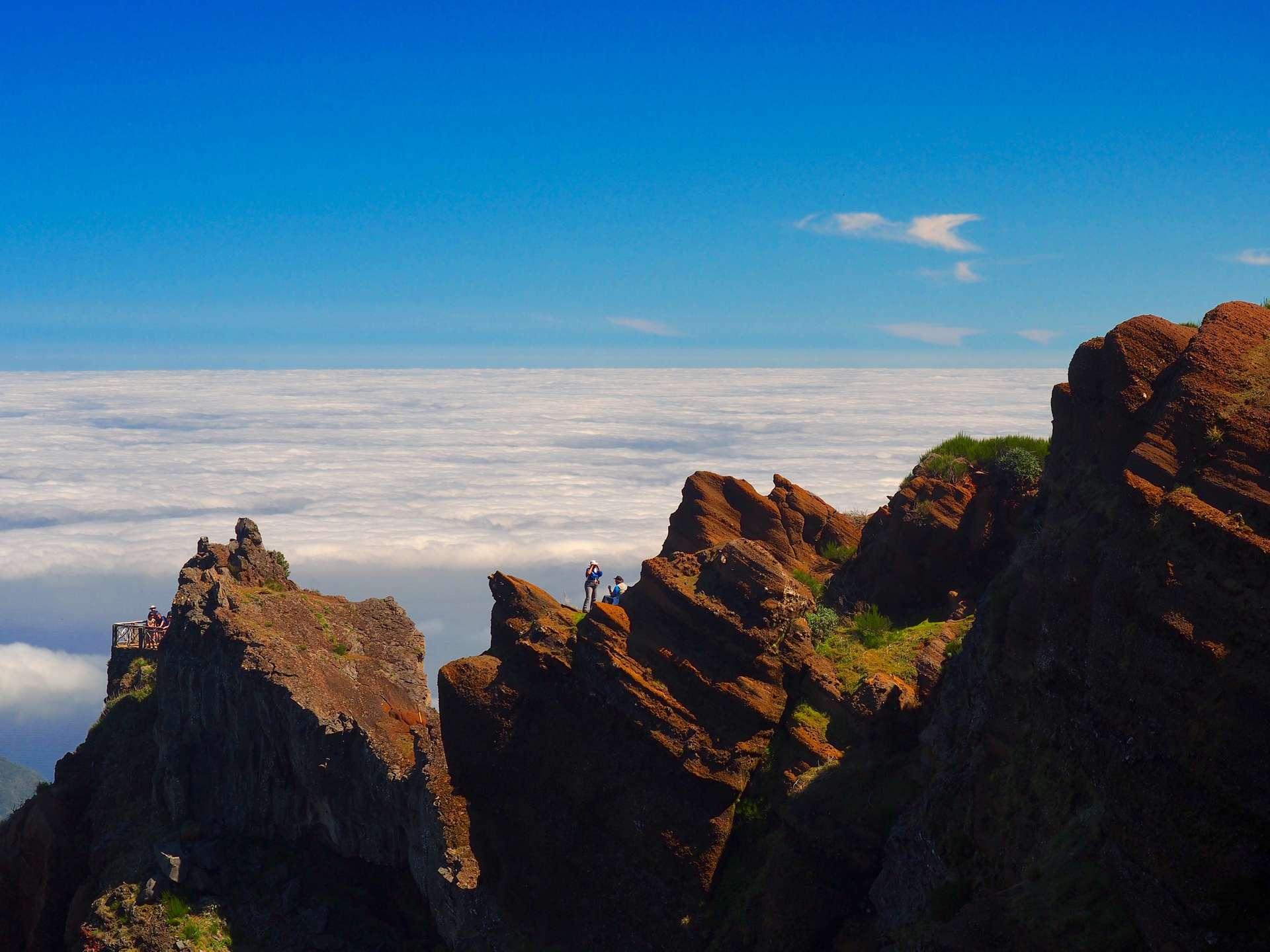Pico Ruivo Madeira op 1800m hoogte!