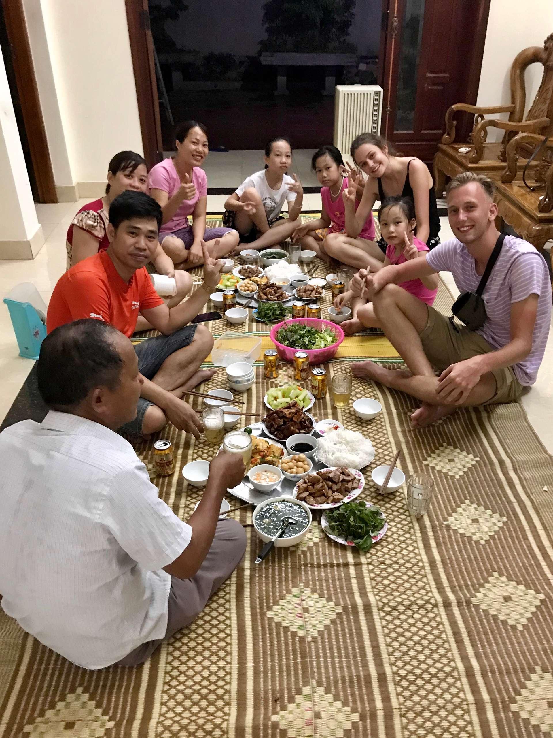 Vietnam, Ninh Binh, Vietnamese familie