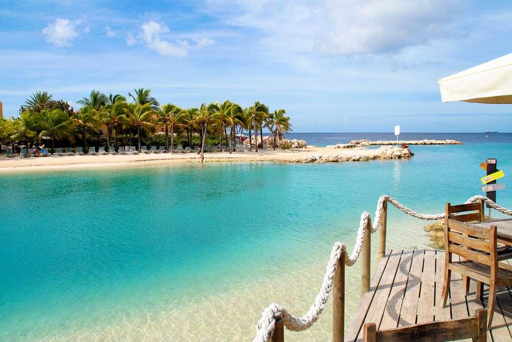Curaçao zee palmbomen