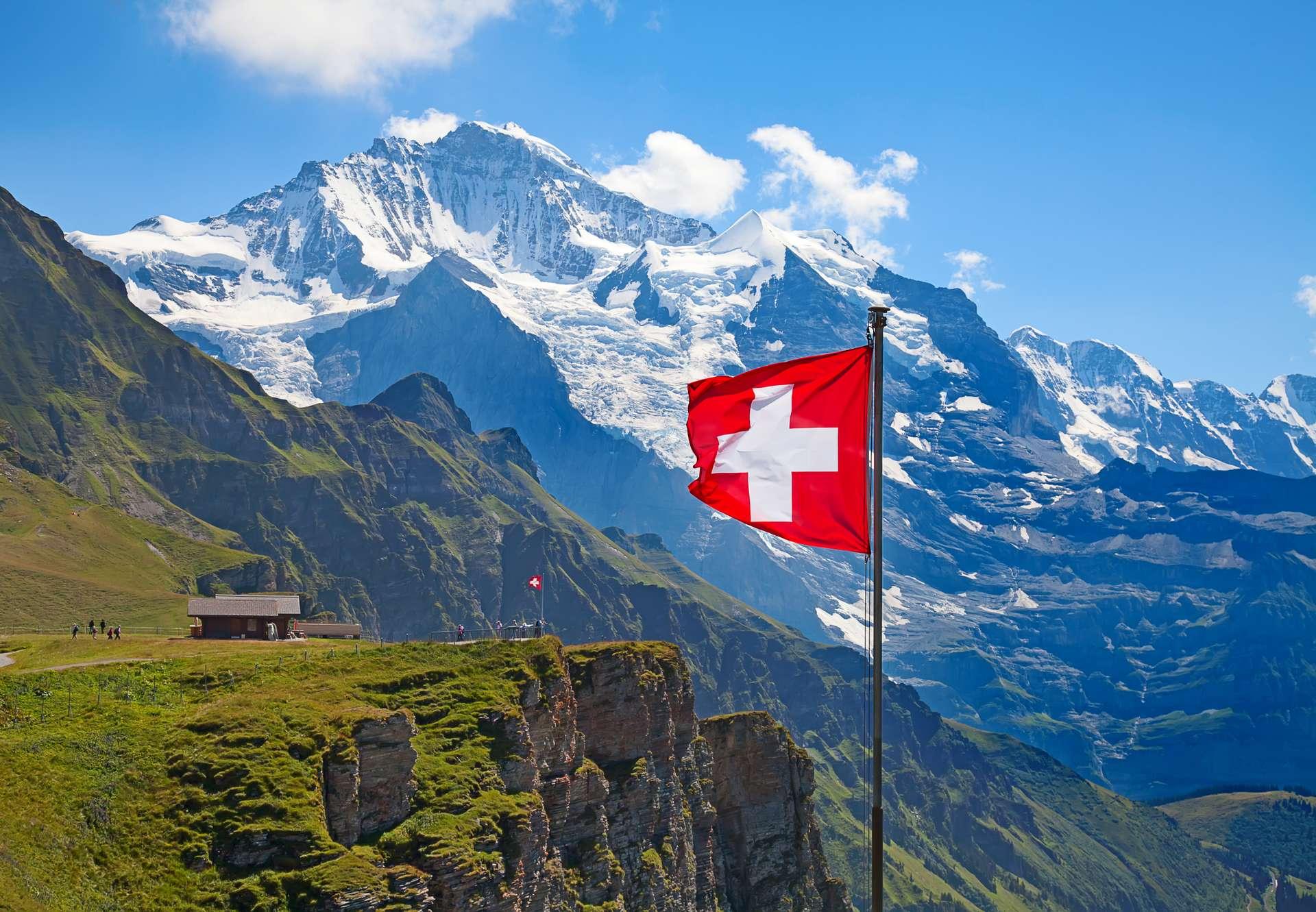 Zwitserland vakantie vlag