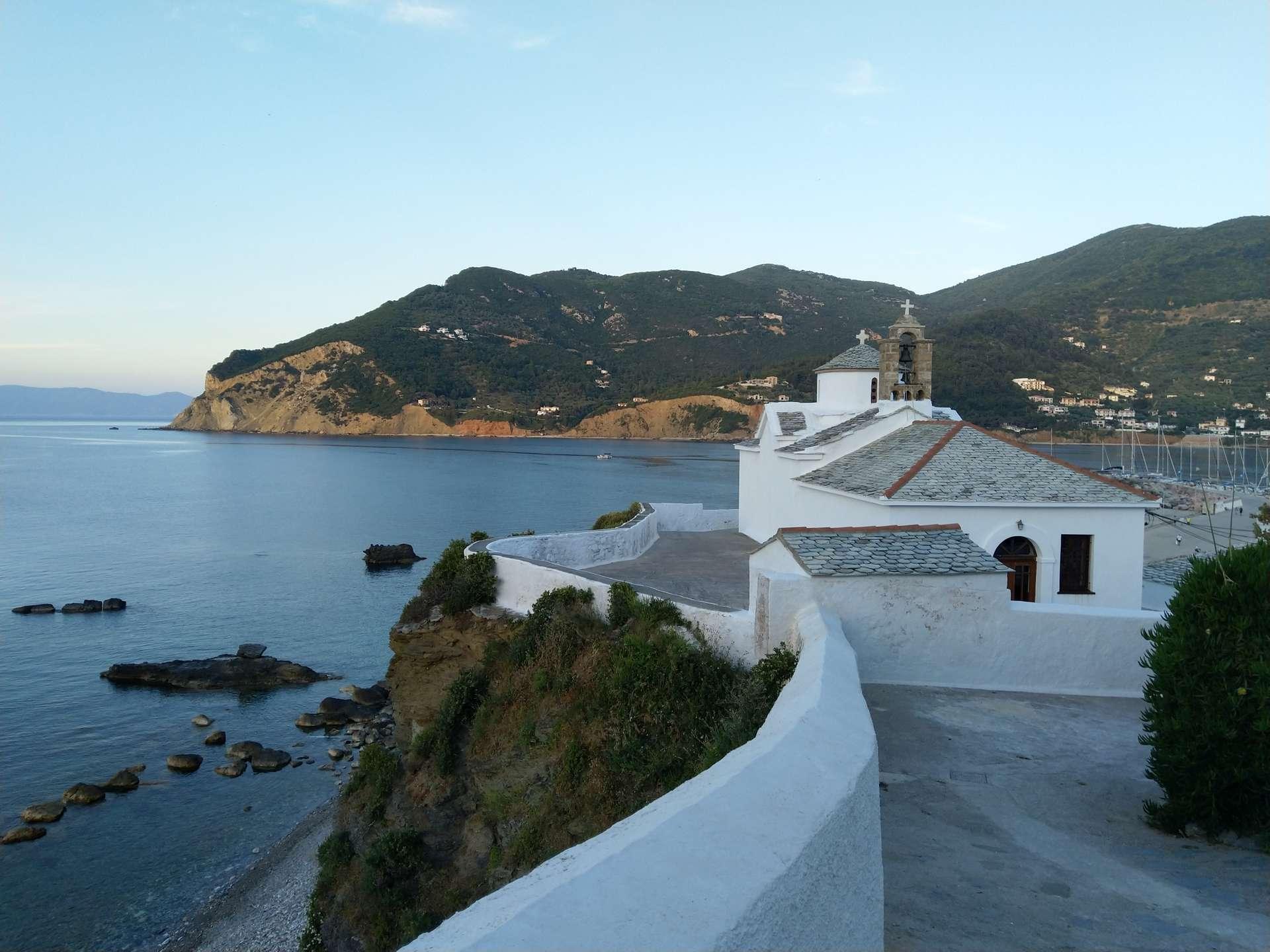Griekenland, Skopelos, witte kerkje