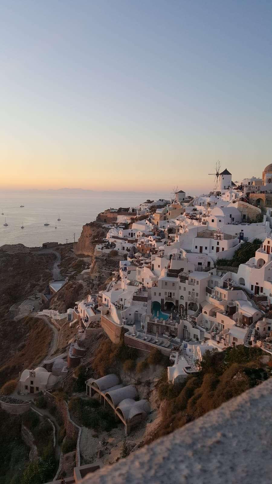 Griekenland, Santorini, uitzicht op Oia