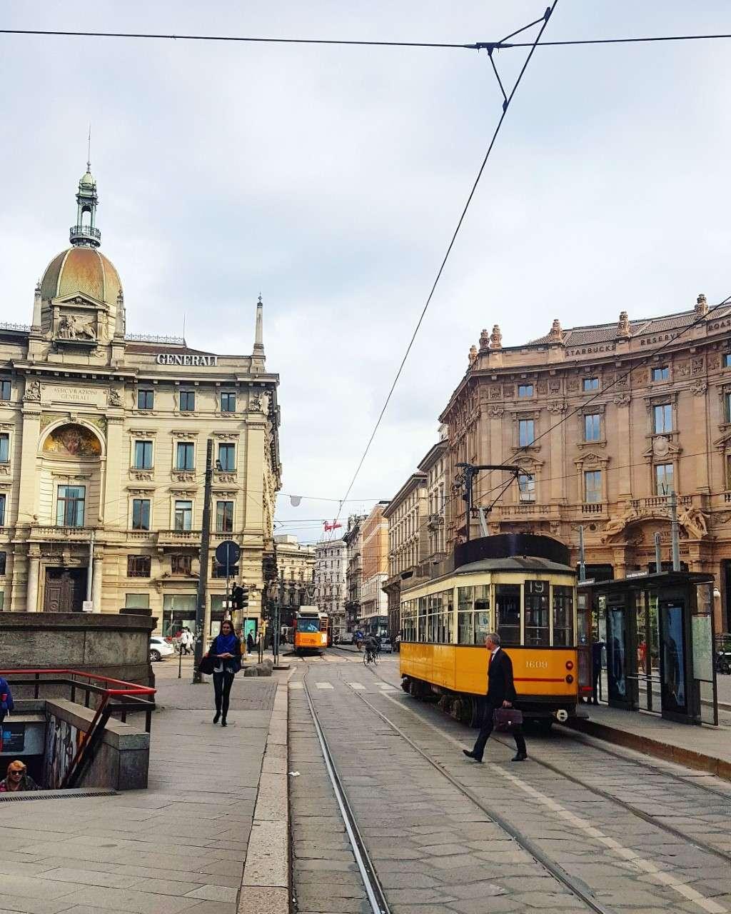 Italië, Milaan, treinstop