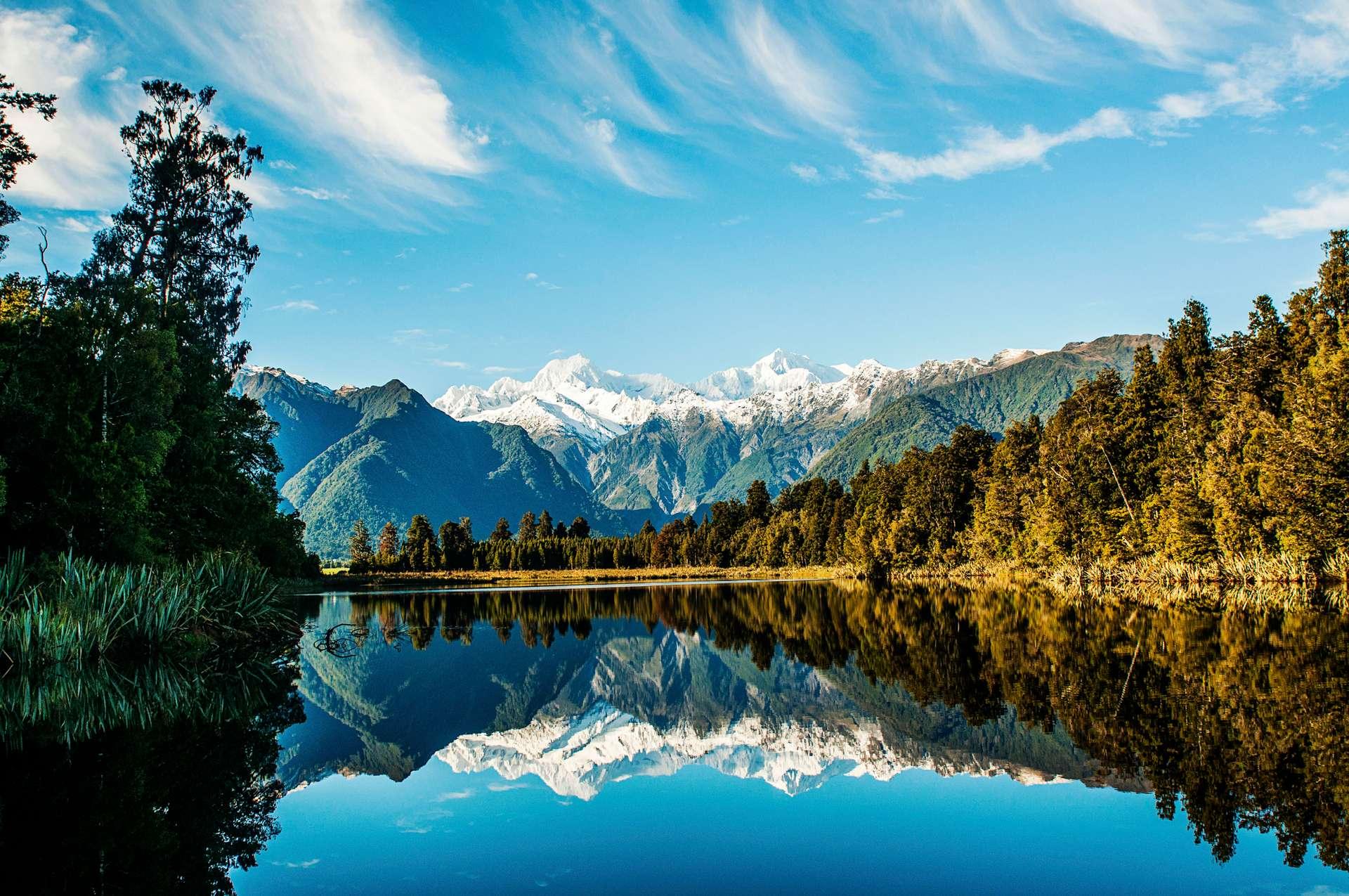 Nieuw Zeeland Mount Cook Mount Tasman Lake Matheson