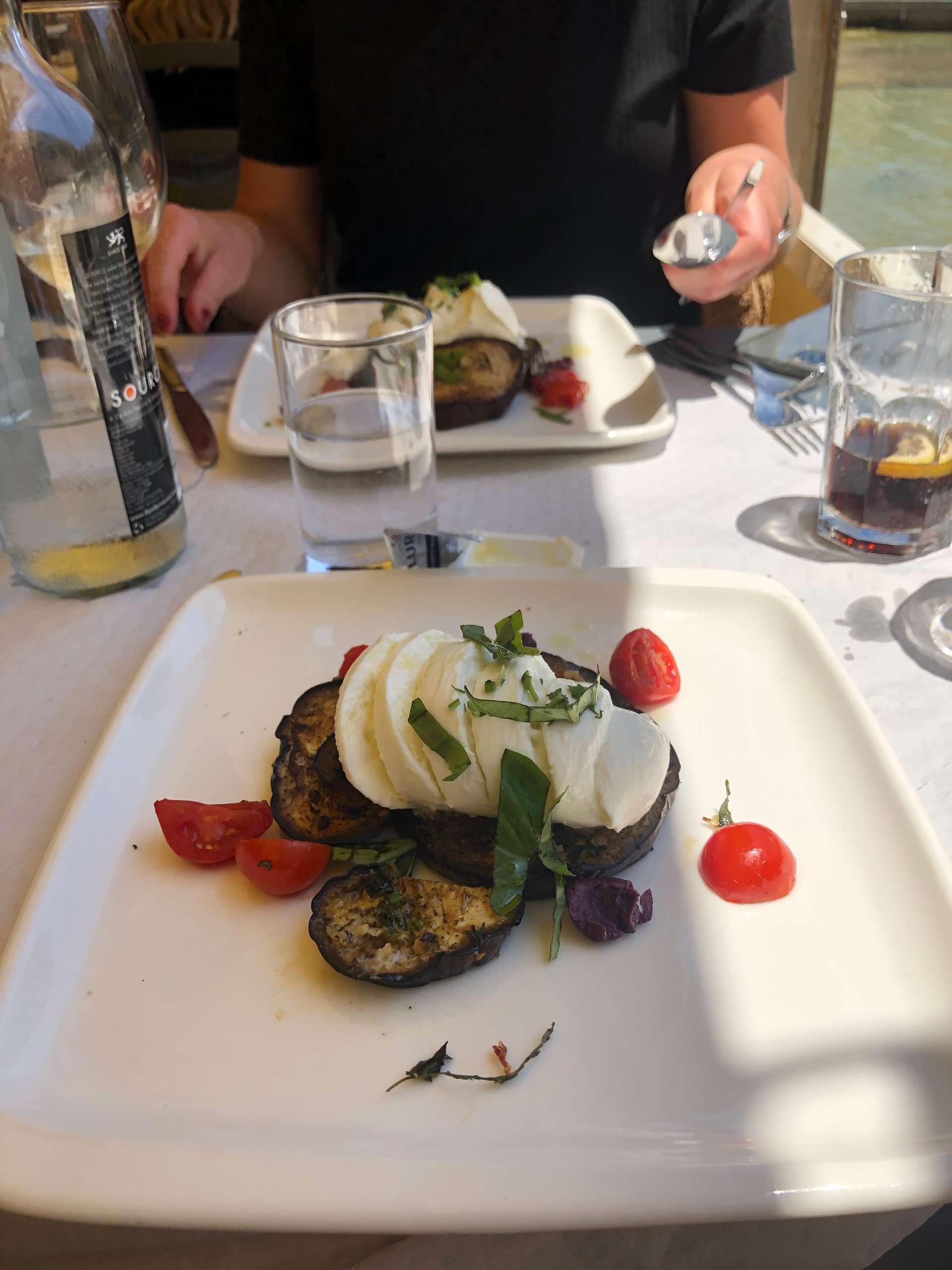 Voorgerecht met aubergine