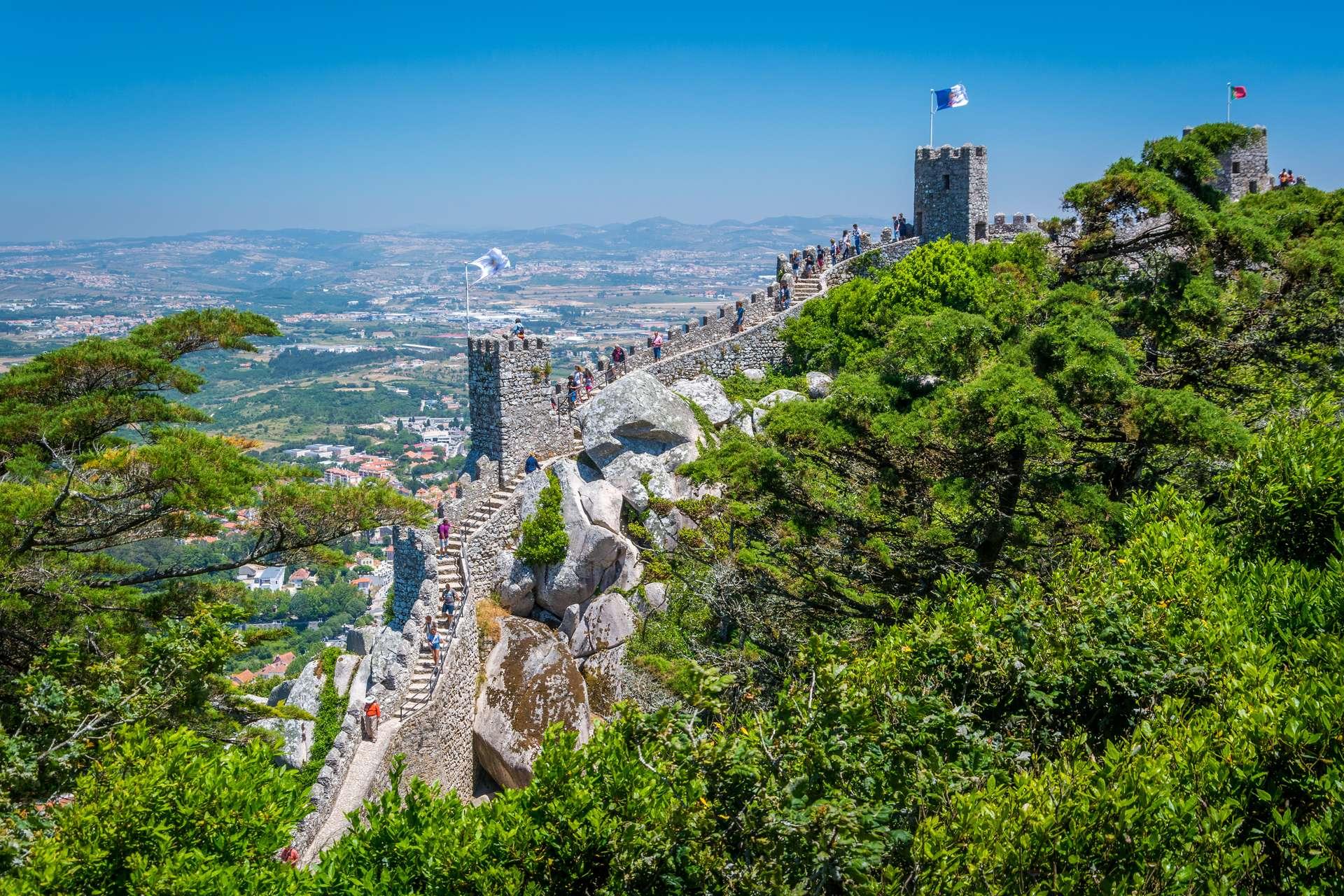 Moorse kasteel Sintra Lissabon