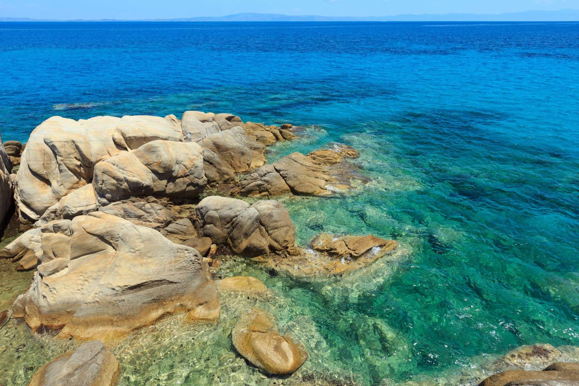 Griekenland Chalkidiki Karidi Aegean sea,
