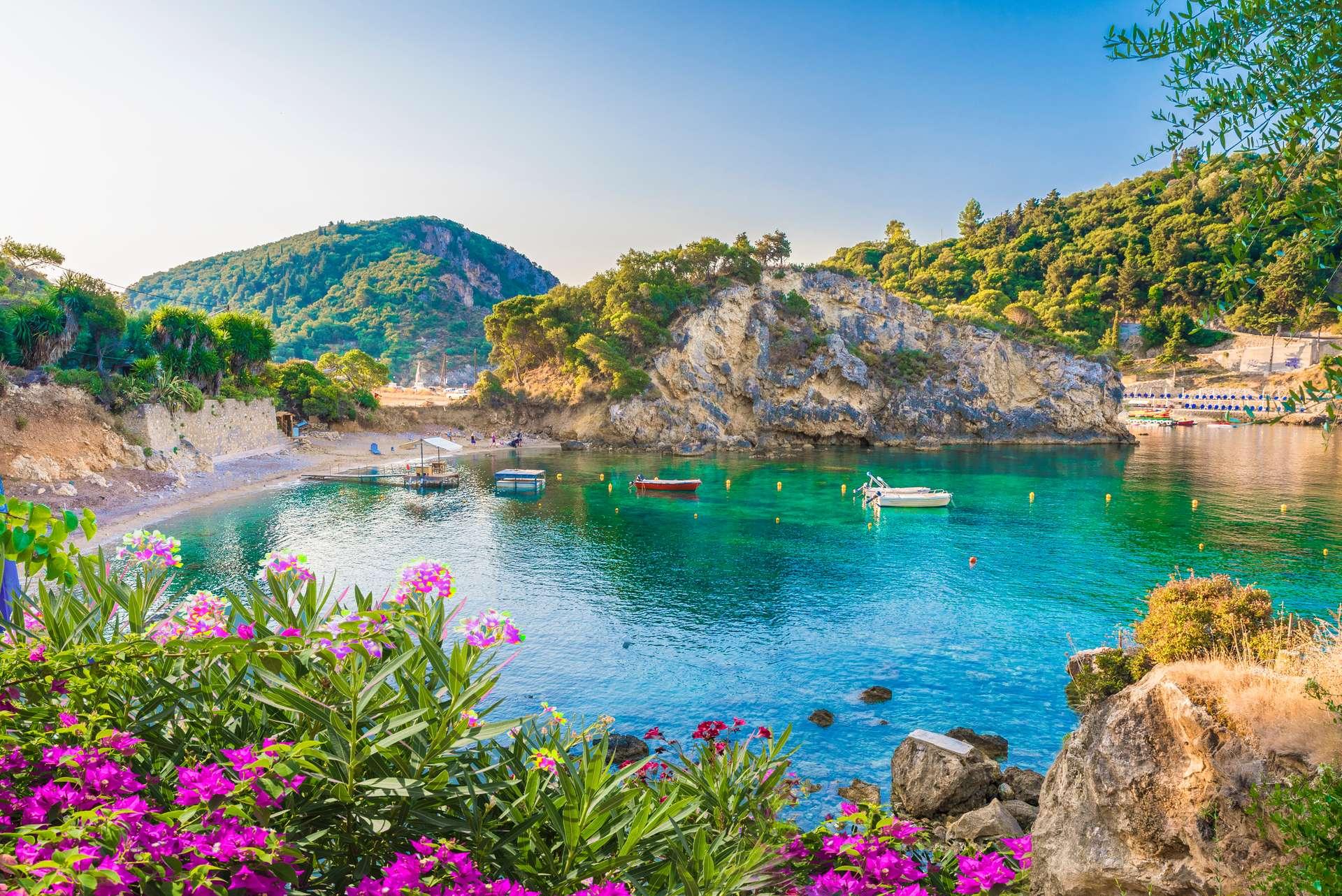 Griekenland Corfu Paleokastritsa bay