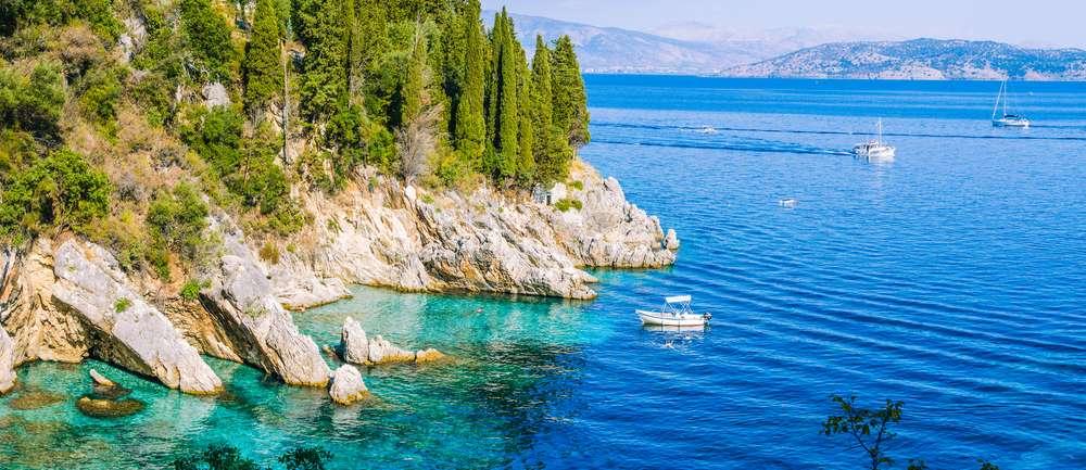 Griekenland Corfu Roaky Kustlijn Kalami