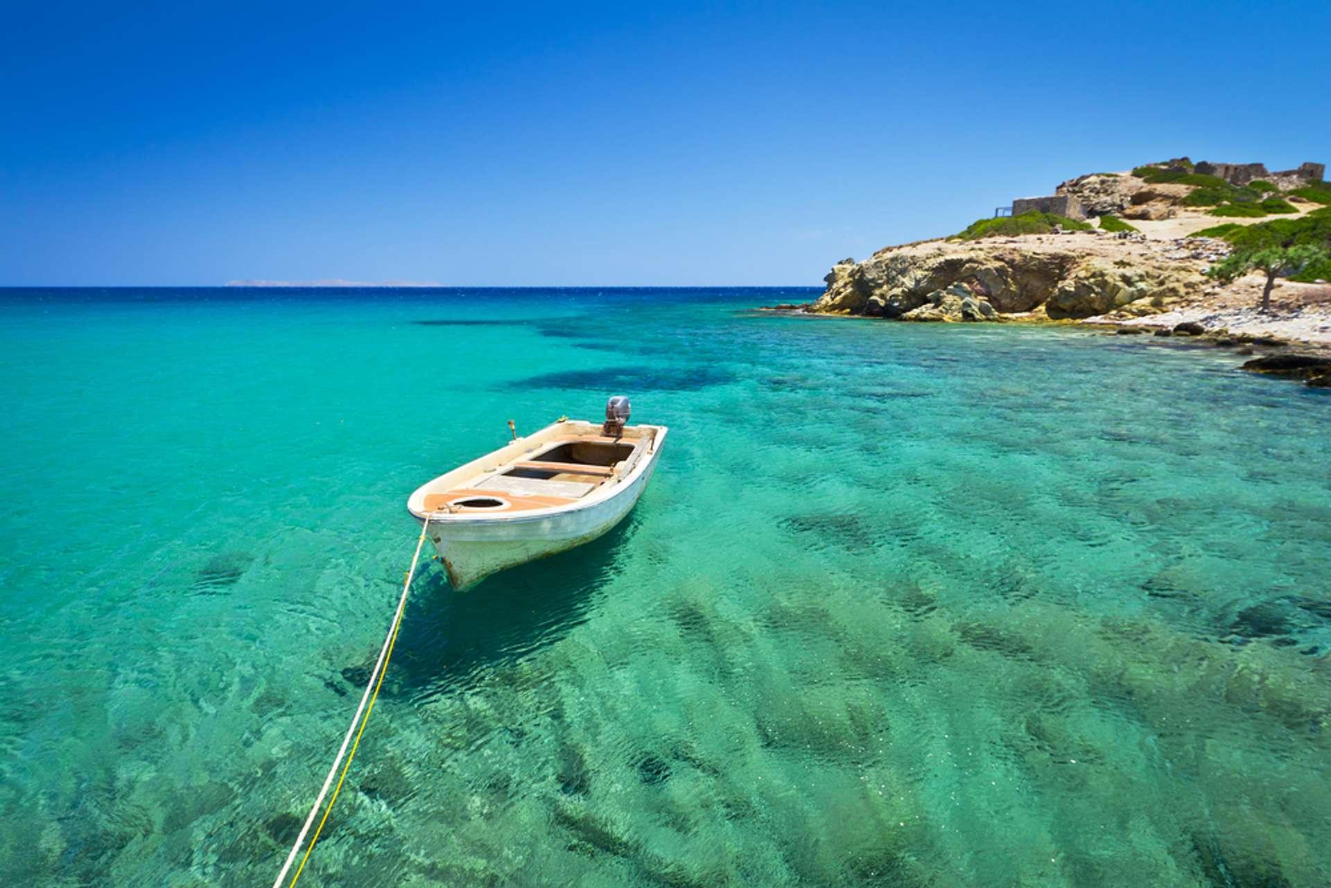 Griekenland Kreta Zee met boot