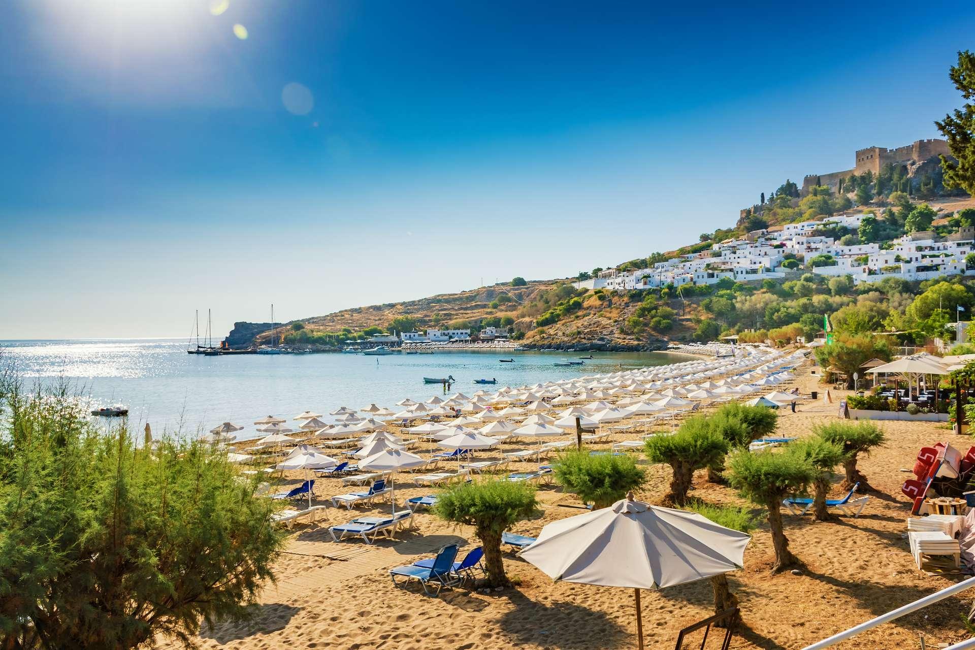 Griekenland Rhodos Acropolis Bay of Lindos