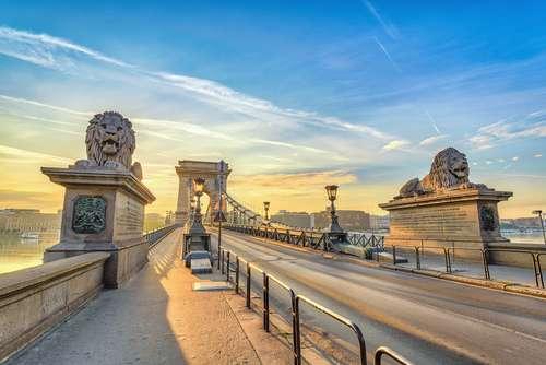 Hongarije Boedapest Chain Bridge