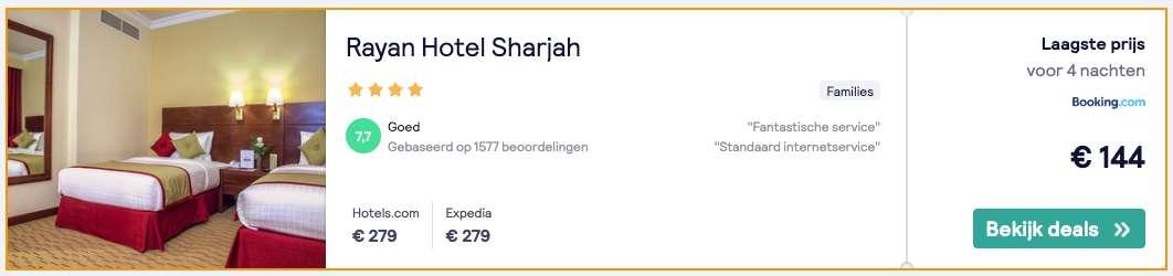 Hotel Dubai €144