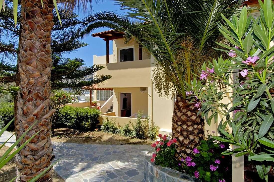 huize anemoni kreta palmbomen