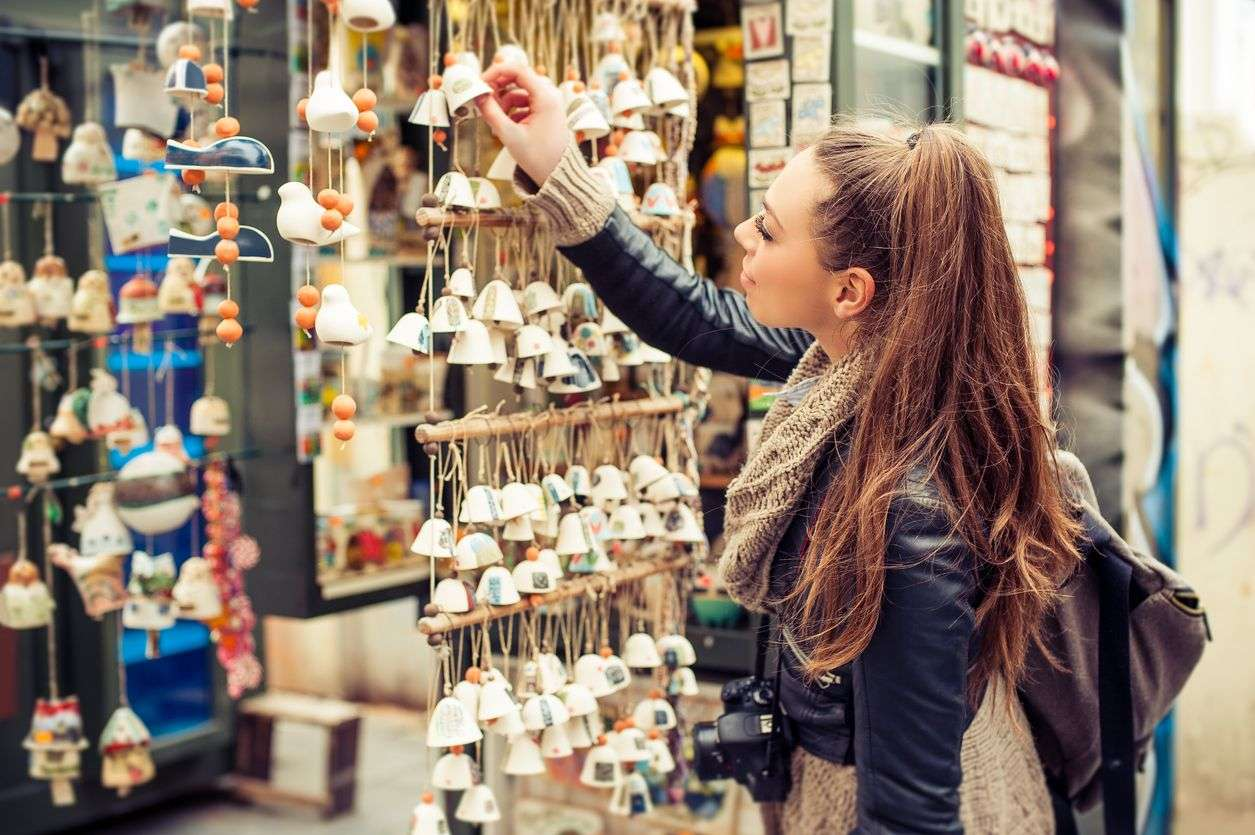 souvenirs shoppen