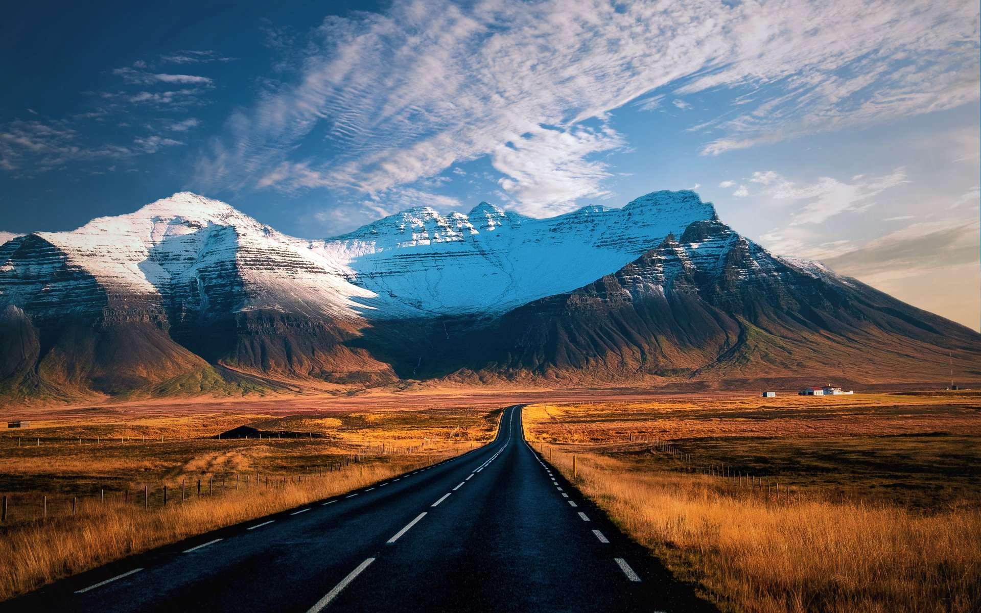IJsland bergen op route 1
