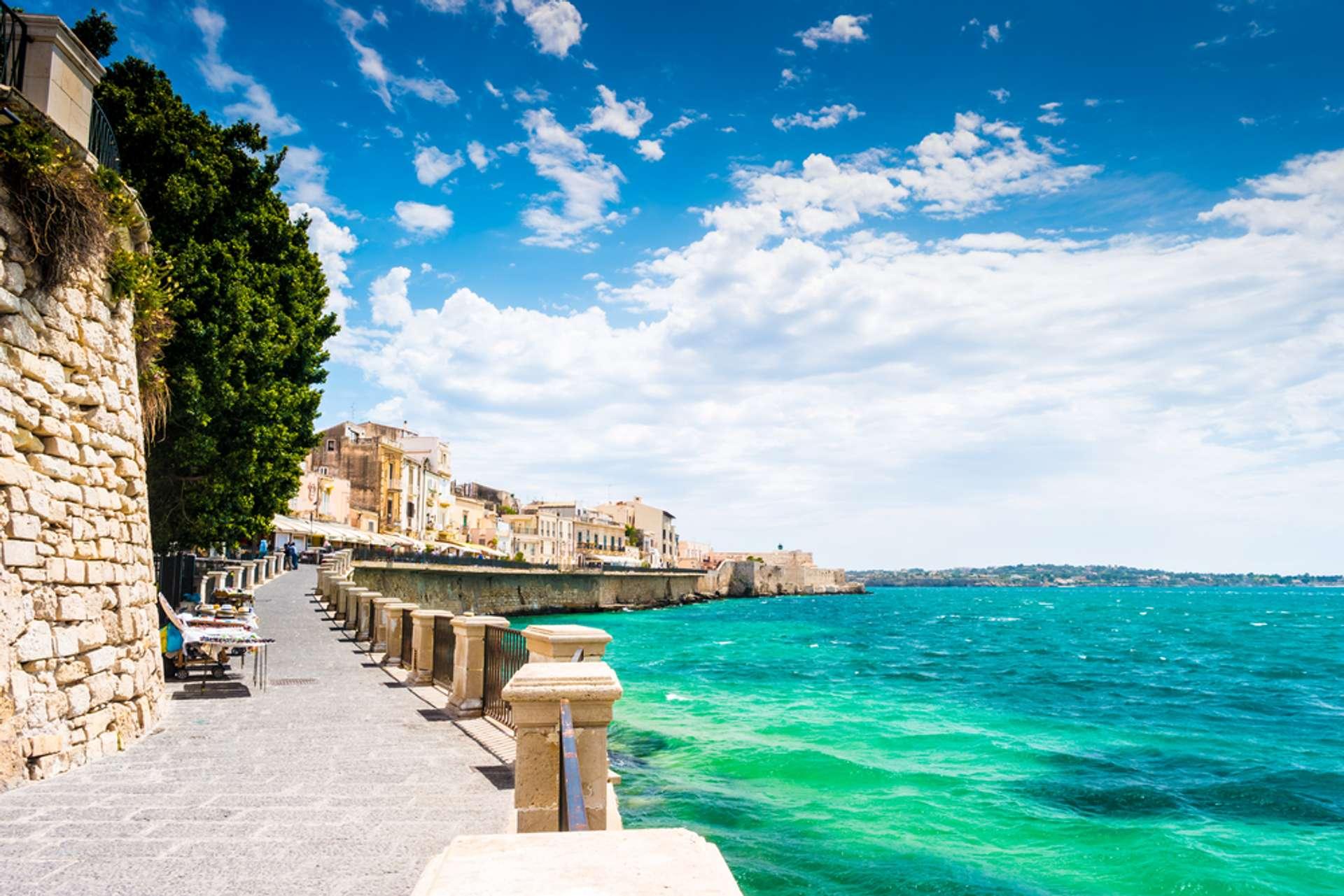Italië Sicilië Syracuse Ortigia island