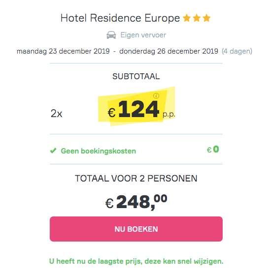 Kerst in Parijs voor €124