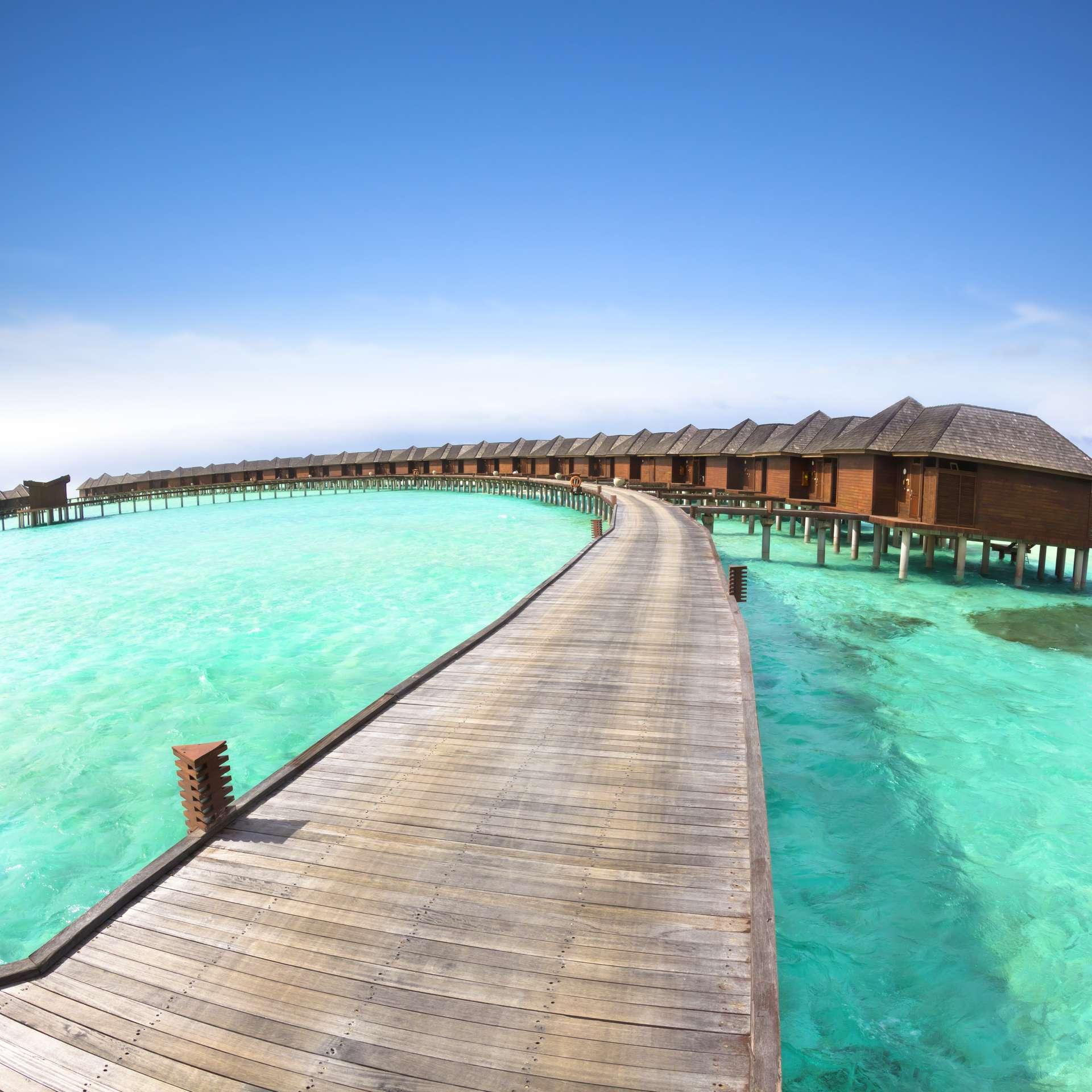 Malediven huisjes op zee