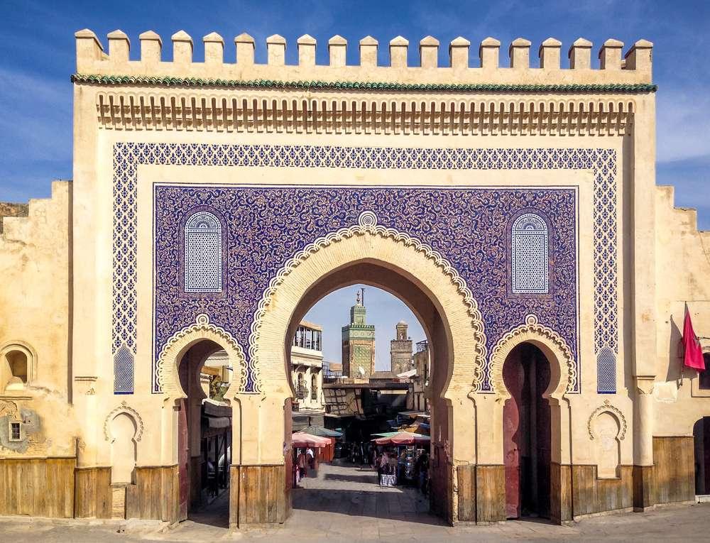 Marokko Fez Bab Bou Jeloud gate