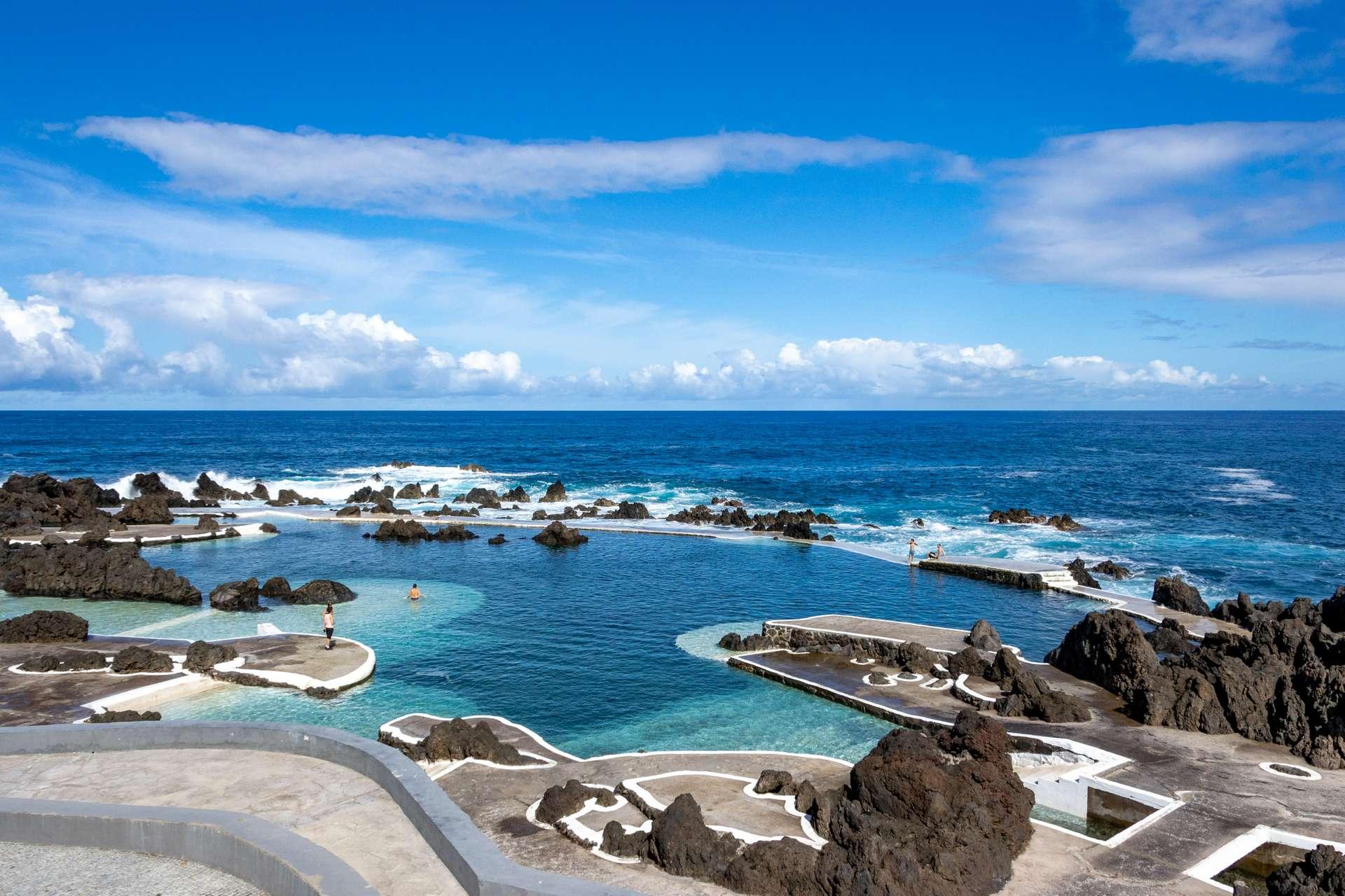 Portugal Madeira Porto Moniz Volcanic lava swimming pool