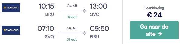 Retourvlucht Sevilla €24