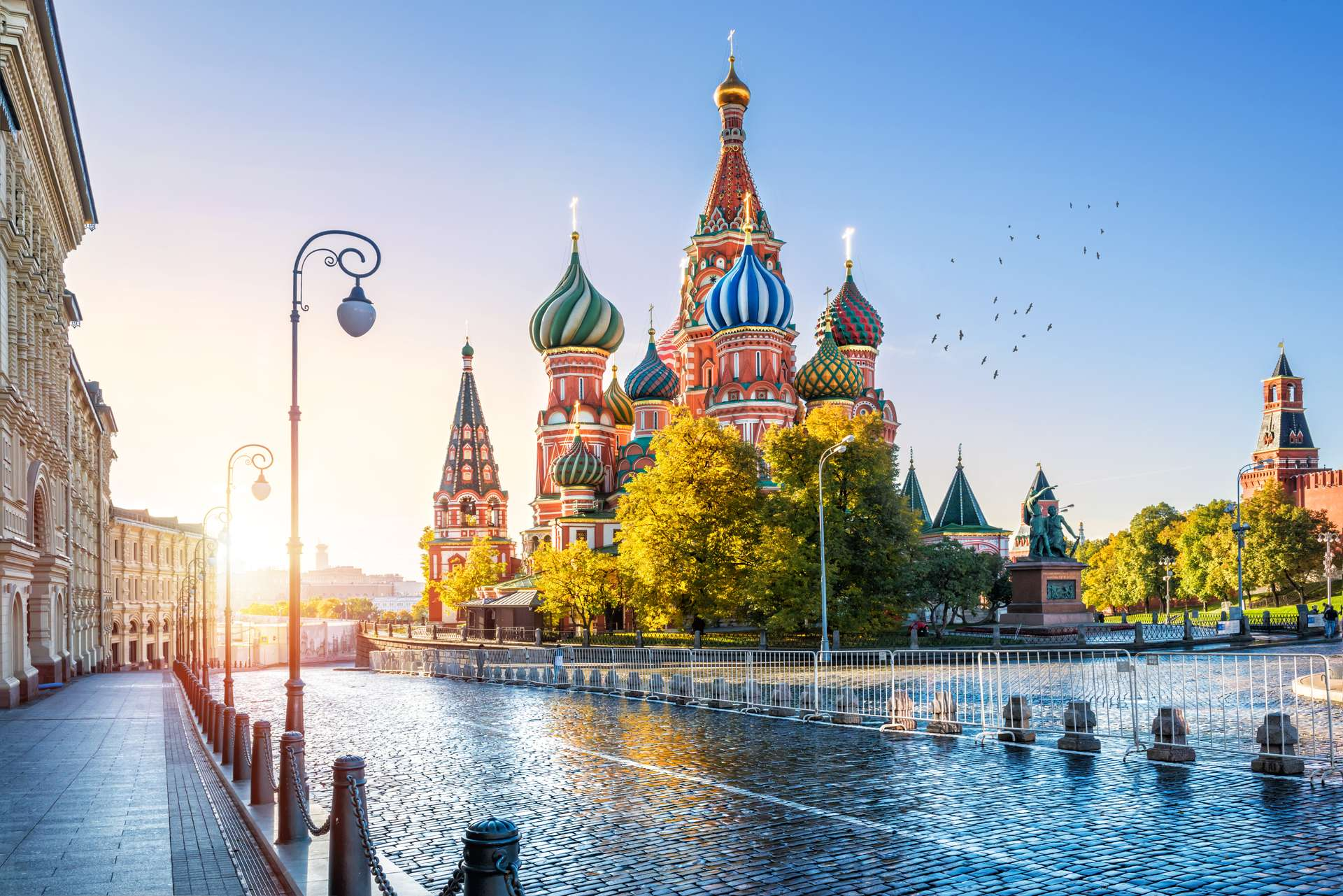 Rusland Moskou St. Basil s Cathedral on Red Square