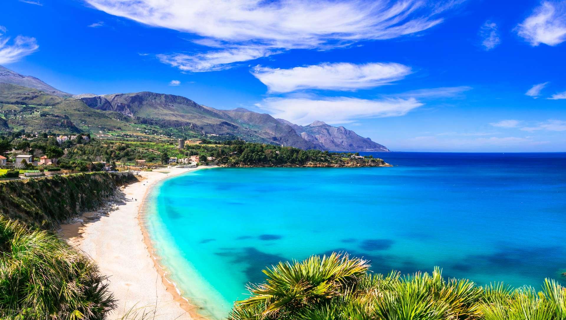 Sicilië Scopello Strand