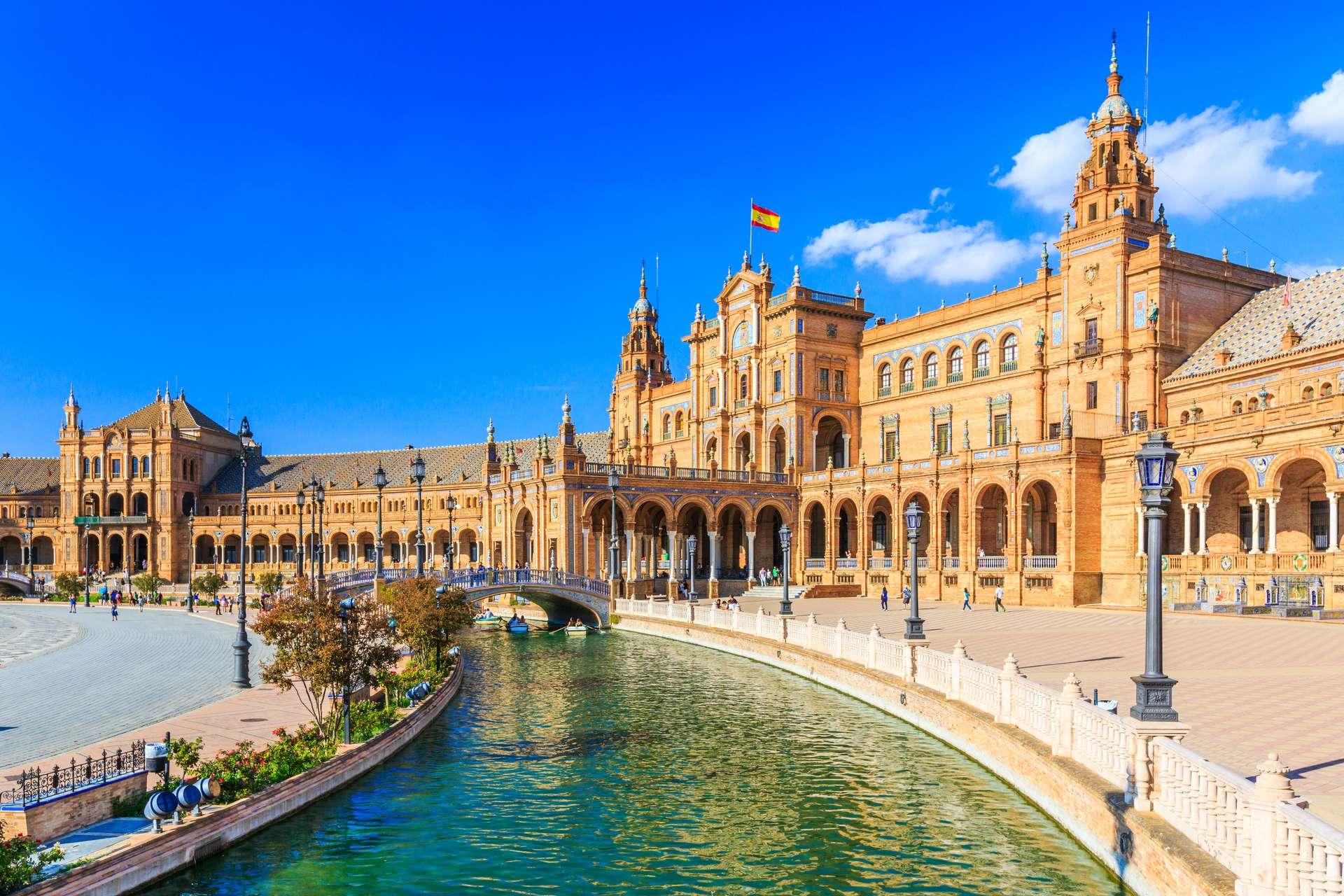 Spanje Sevilla Plaza de Espana1
