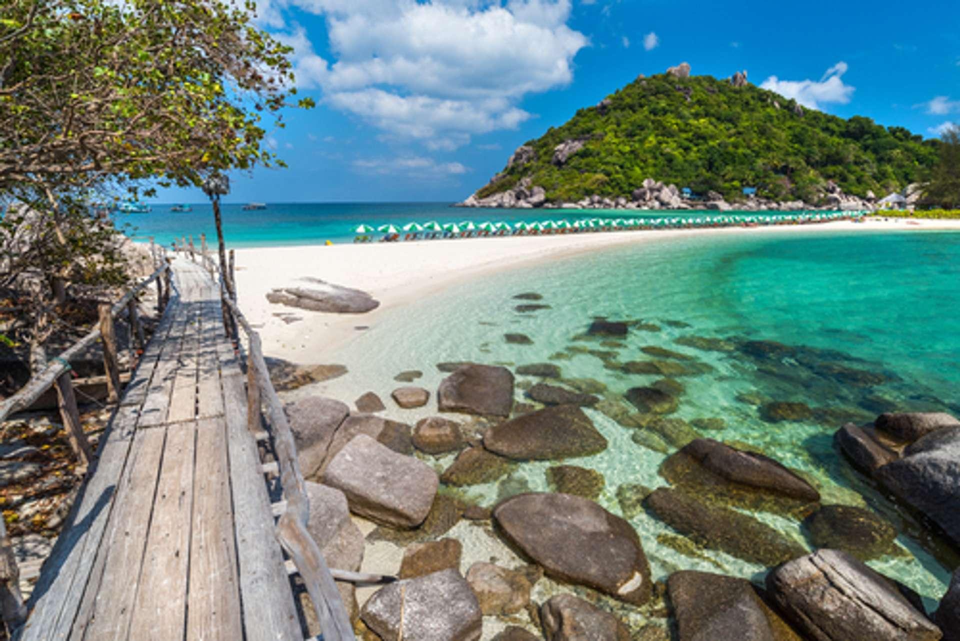 Thailand Koh Tao View of Nang Yuan island