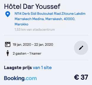 Verblijf Marrakech €19