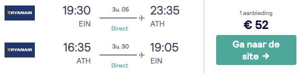 Vliegticket Athene €52