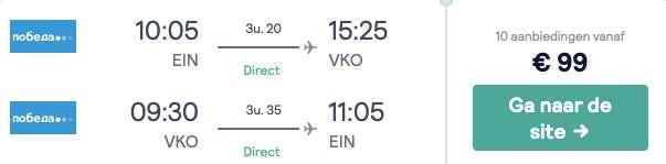 Vliegticket Moskou €99