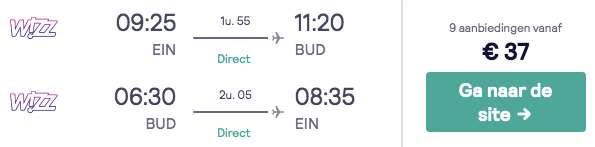 Vliegtickets Boedapest €37