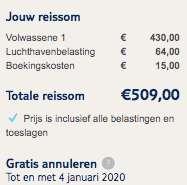 Vliegtickets Curaçao €494