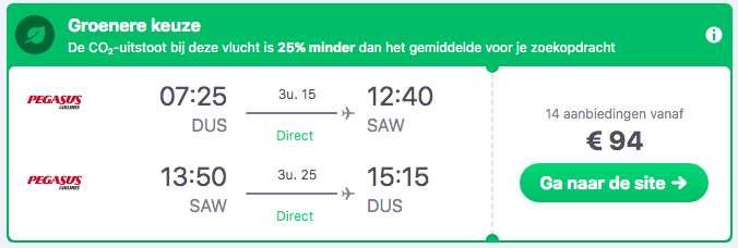 Vliegtickets Istanbul voor €94