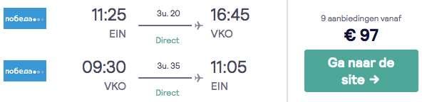 vliegtickets Moskou €97
