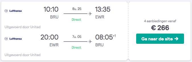 Vliegtickets New York voor €266
