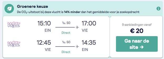 Vliegtickets Wenen voor maar €20