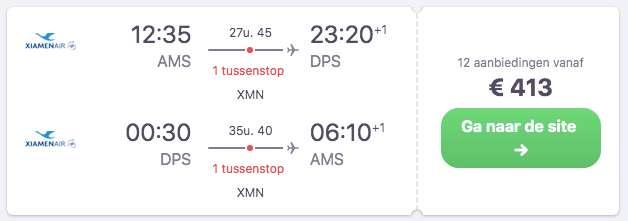 Vlucht €413
