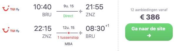 Vluchten: €386