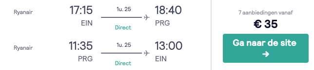 Vluchten Praag €35