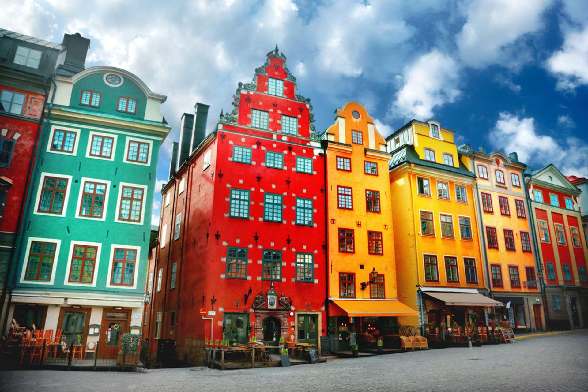Zweden Stockholm Kleurrijke huizen1
